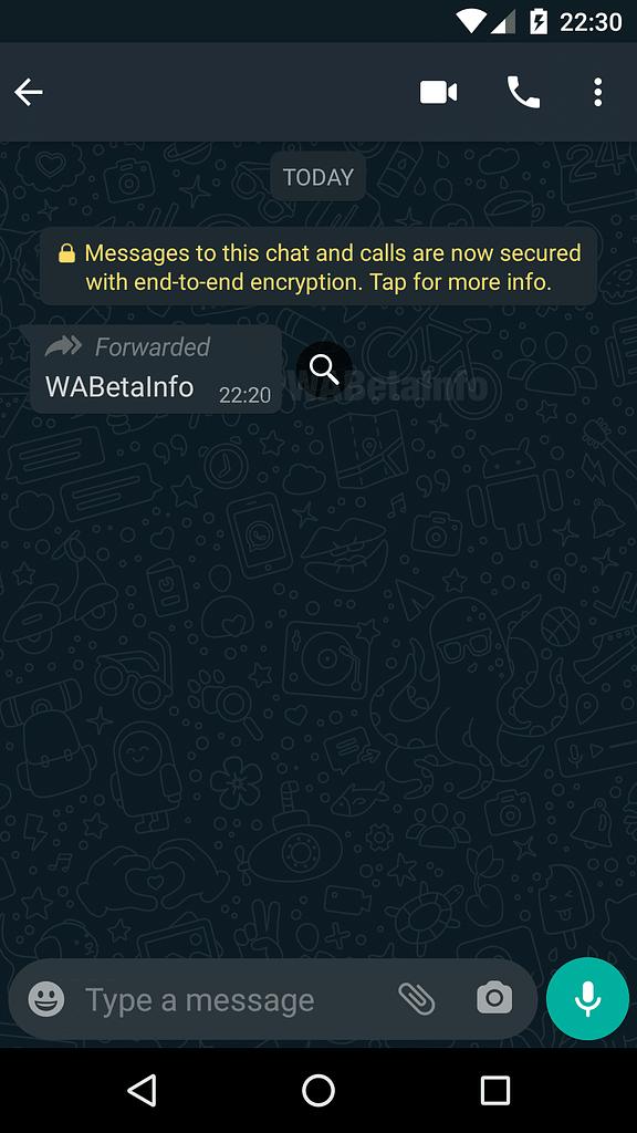 whatsapp search message