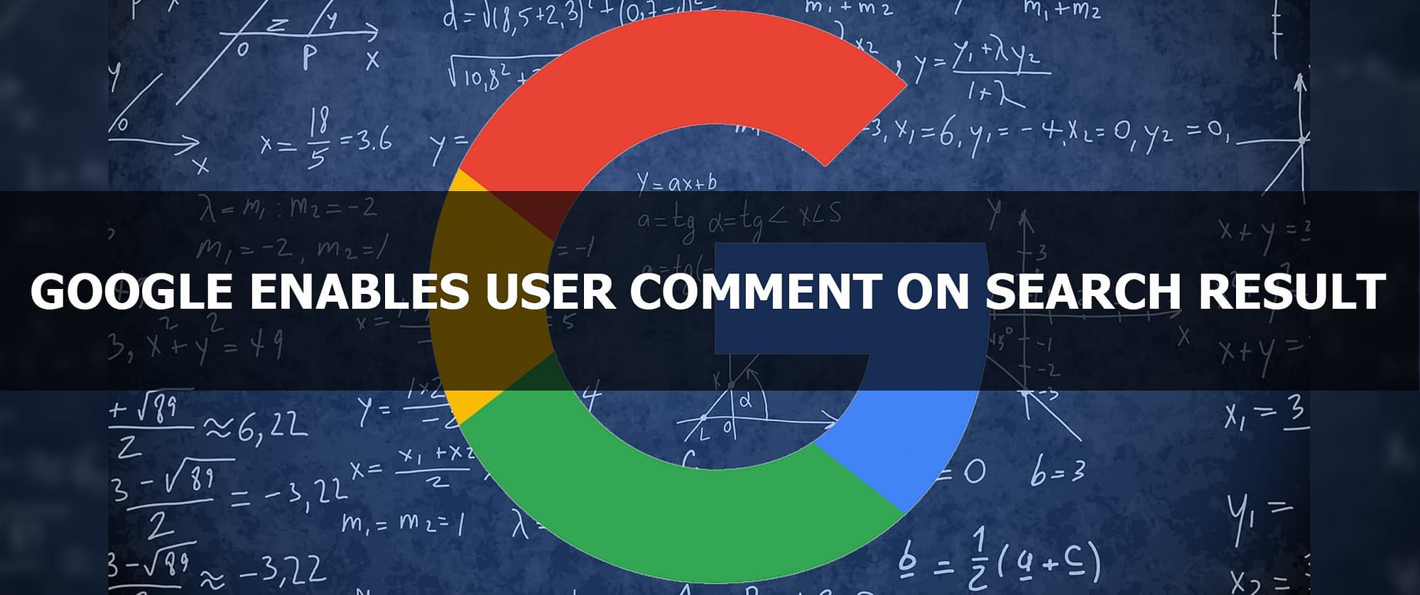 Google Enables User Comment on Search Result