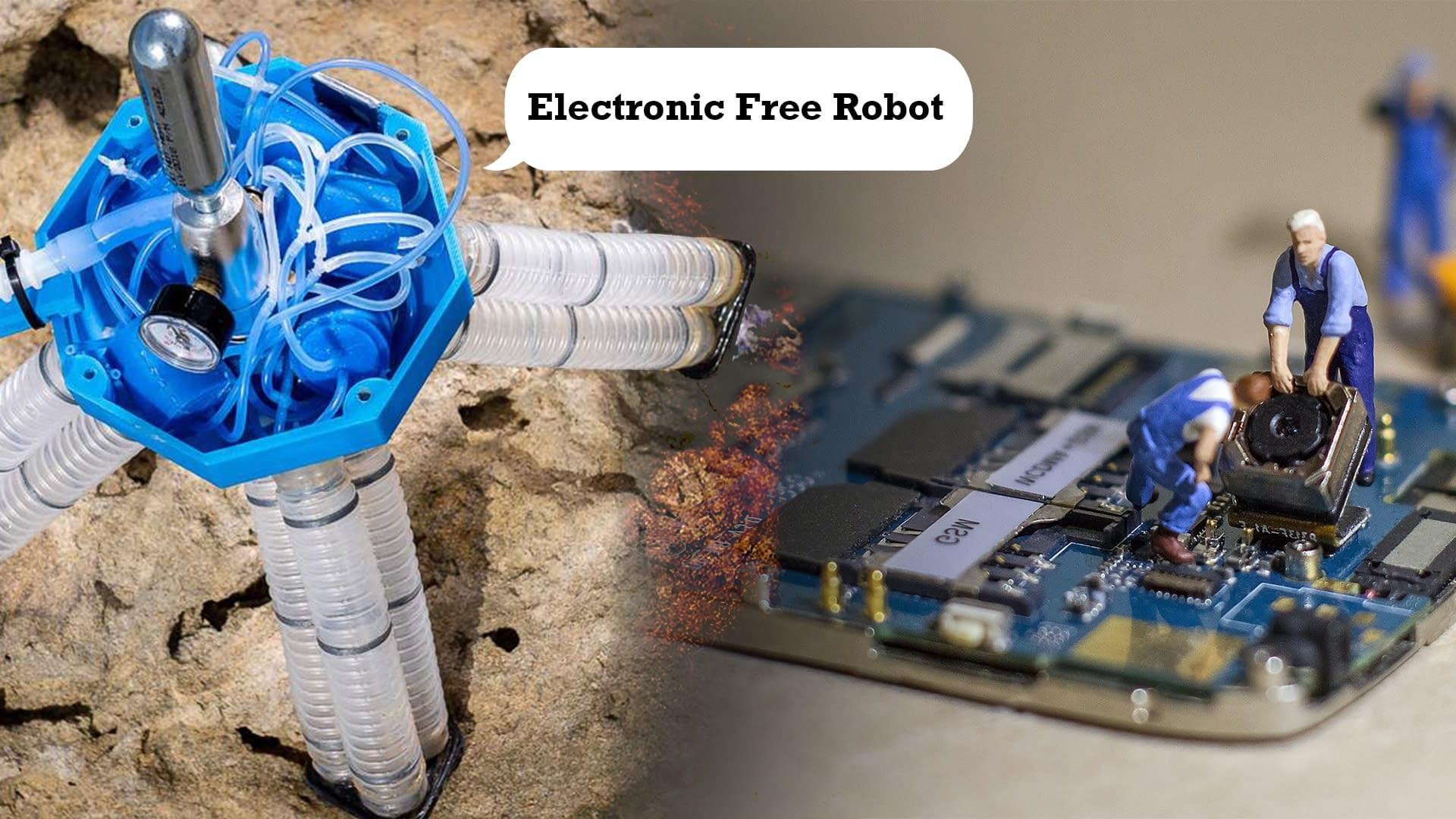Four legged electronics free robot