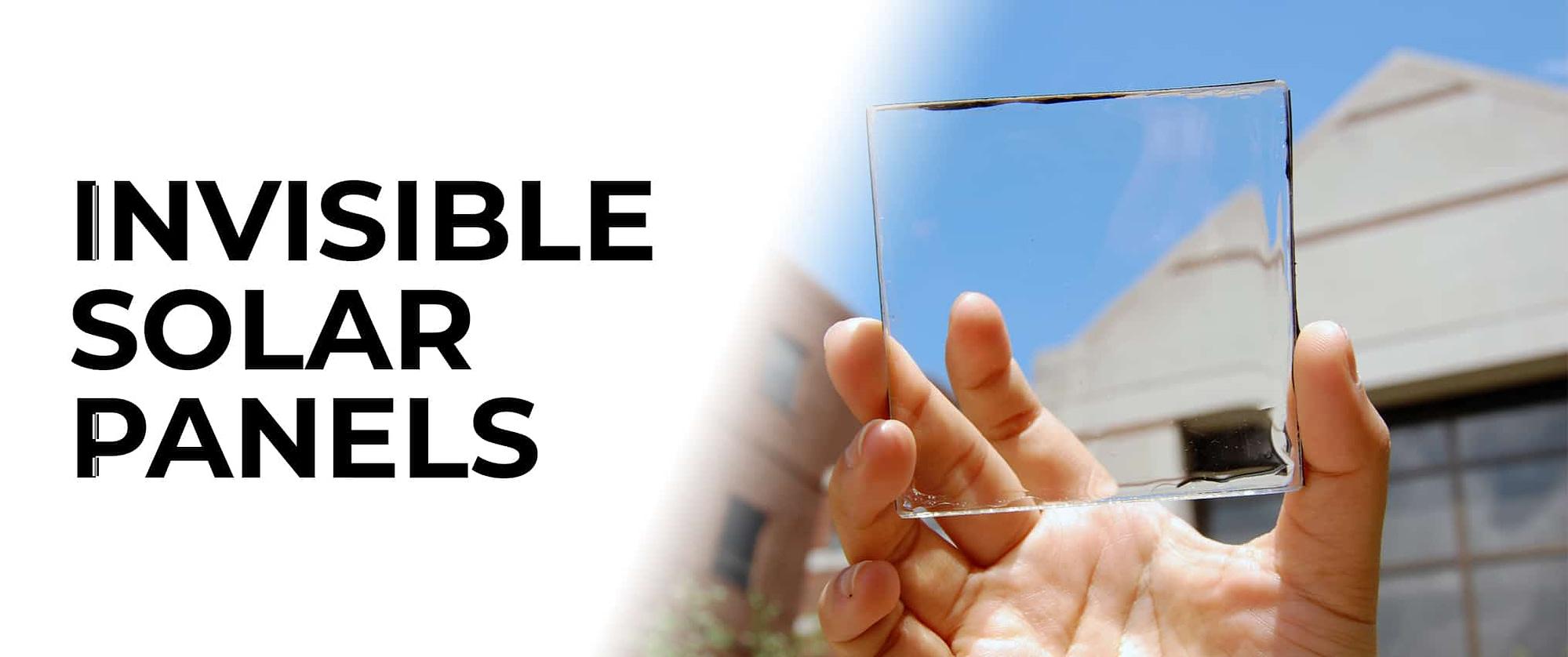 Invisible solar panel