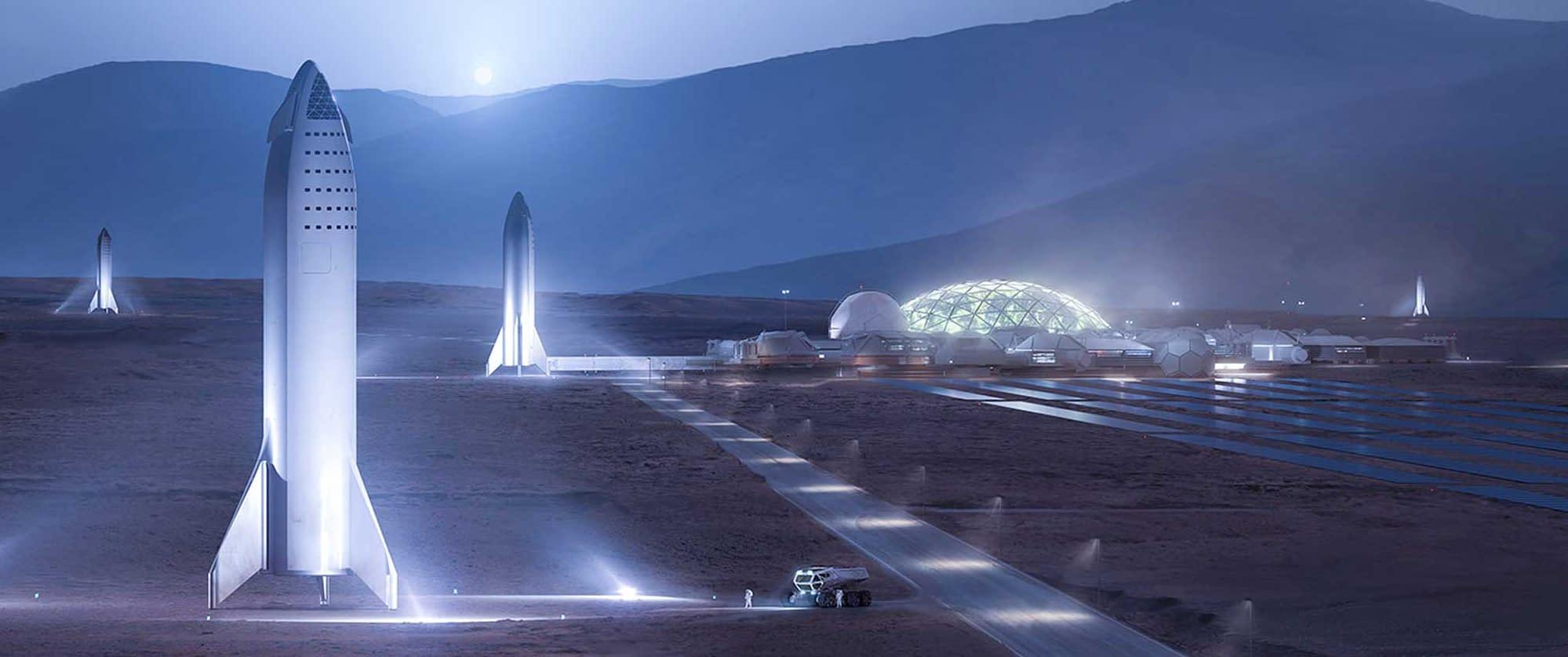 starship trip on mars